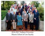 2016/17 Indiana University Maurer School of Law Faculty
