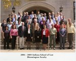 2004/05 Indiana University School of Law Faculty