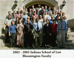 2002/03 Indiana University School of Law Faculty
