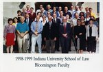 1998/99 Indiana University School of Law Faculty