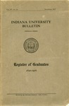 Register of Graduates (1830-1916) by Indiana University Bulletin